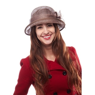 Classic Betty Sinamay Derby Cloche with Flower Accent