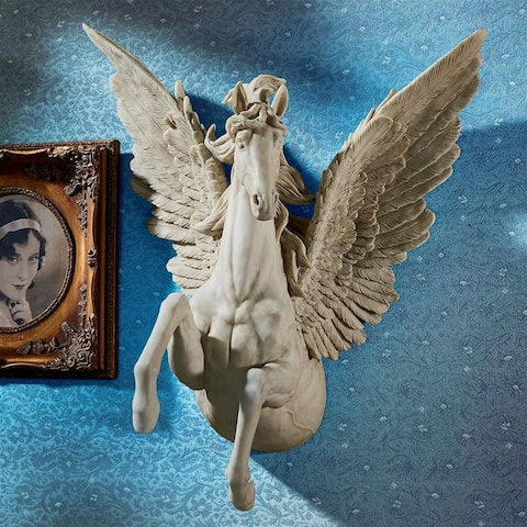 Design Toscano Divine Pegasus Winged Stallion Wall Sculpture