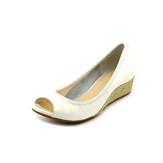 Cole Haan Air Tali.OT.Wedge.40 Open Toe Patent Leather Wedge Heel