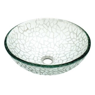 Vessel Sink Bathroom Frosted Cobblestone Textured Glass Renovator's Supply