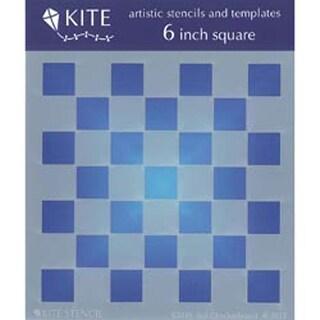"""Checkerboard 5""""X5"""" - Judikins 6"""" Square Kite Stencil"""