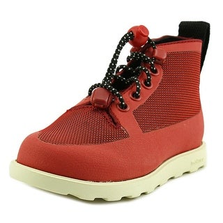 Native Fitzroy Child Youth Round Toe Canvas Red Boot