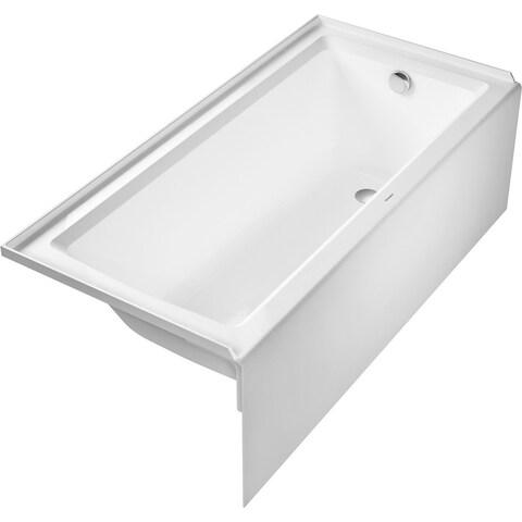 Duravit 700407000000090 Architec 66in Acrylic Soaking Bathtub for Alcove Installations with Right Drain