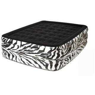 Pure Comfort 8508ZDB zebra Queen Flock Top Raised air bed