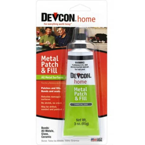 Devcon 50345 Metal Patch & Fill, Charcoal Gray, 3 Oz