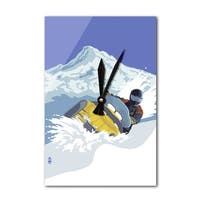 Snowmobile - LP Artwork (Acrylic Wall Clock) - acrylic wall clock