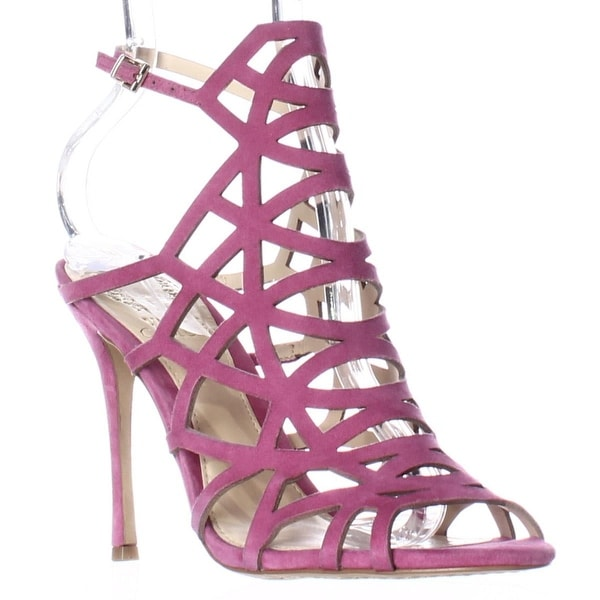 Vince Camuto Kristana Strappy Caged Dress Sandals, Pink Orchid - 6.5 us / 36.5 eu