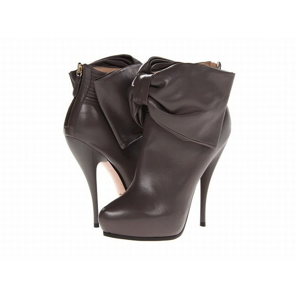 Viktor & Rolf NEW Gray Shoes Size 6M Ankle Leather Booties