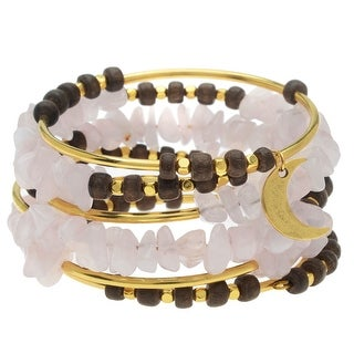 Rose Quartz Gemstone Memory Wire Bracelet - Exclusive Beadaholique Jewelry Kit
