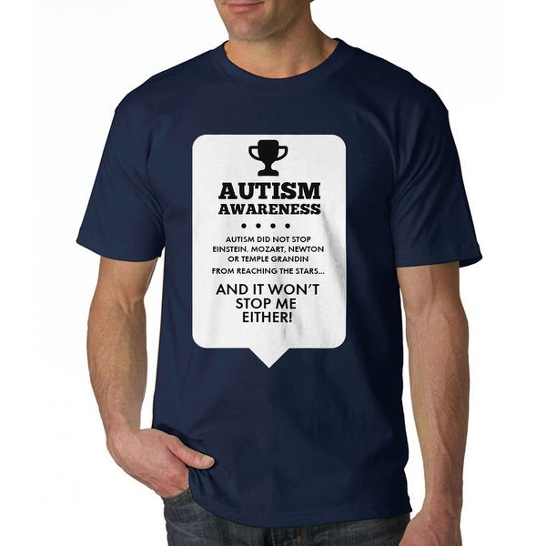 f2ab1177 Shop Autism Awareness It Won't Stop Me Either Men's Navy T-shirt - Free  Shipping On Orders Over $45 - Overstock - 17681894