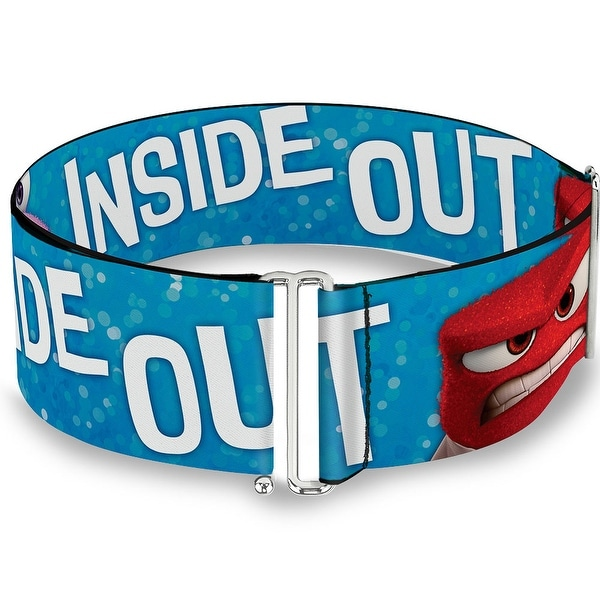 Inside Out 6 Character Pose Sparkle Blue White One Size Cinch Waist Belt ONE SIZE