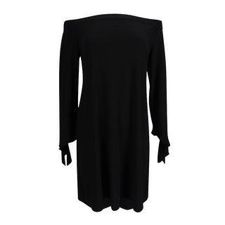 American Living Women's Off-The-Shoulder Dress - Black