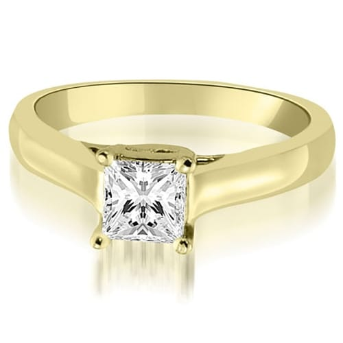 0.75 cttw. 14K Yellow Gold Classic Princess Cut Lucida Diamond Engagement Ring