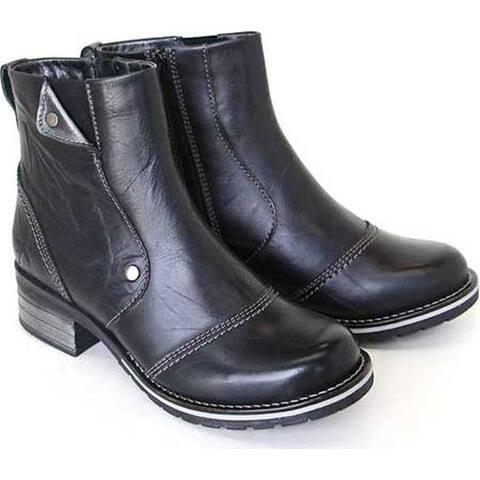 Dromedaris Women's Kassia Ankle Boot Black Leather