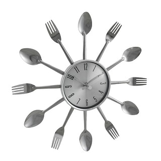 Contemporary Kitchen Wall Clock Knife Fork Spoon Clock Free