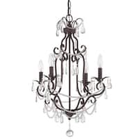 """Craftmade 1054 4-Light 1 Tier Candle Style Chandelier - 17"""" Wide - N/A"""
