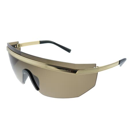 Versace VE 2208 10023G Unisex Gold Frame Brown Lens Sunglasses