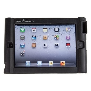 Seal Shield SBUMPERI3 Seal Shield Bumper Case w/ Single Megaphone for iPad 2/New/3 - iPad - Black - Silicone