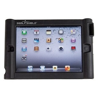 """Seal Shield SBUMPERI3 Seal Shield Bumper Case w/ Single Megaphone for iPad 2/New/3 - iPad - Black - Silicone"""