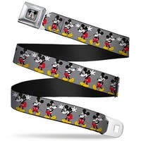 Mickey Mouse W Glasses Full Color Gray Mickey Mouse W Glasses Poses Gray Seatbelt Belt
