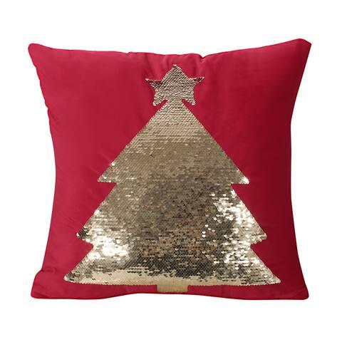 Benoit Glam Velvet Christmas Throw Pillow by Christopher Knight Home
