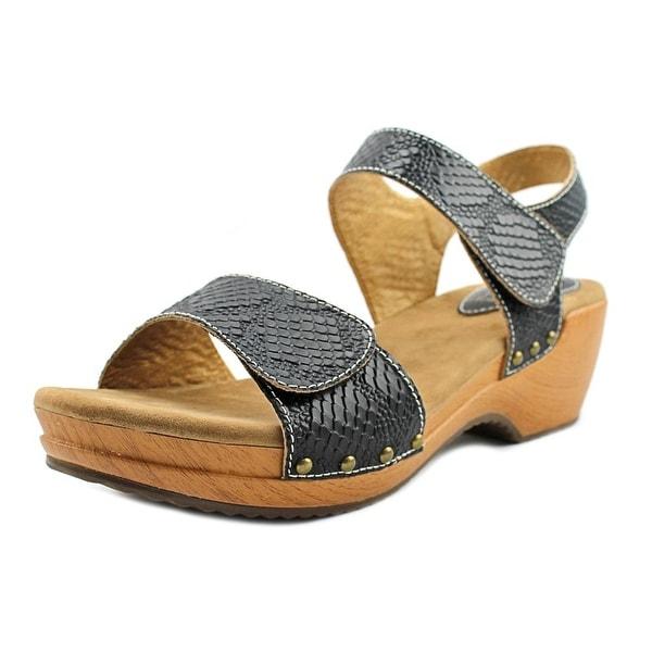L'Artiste Choko Women Open-Toe Leather Black Slingback Sandal