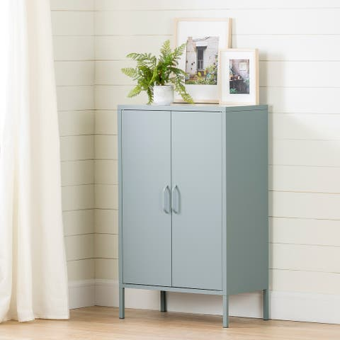 South Shore Crea Metal 2-Door Accent Cabinet