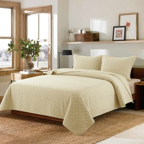 Country Living Vintage Washed Solid Quilt Set