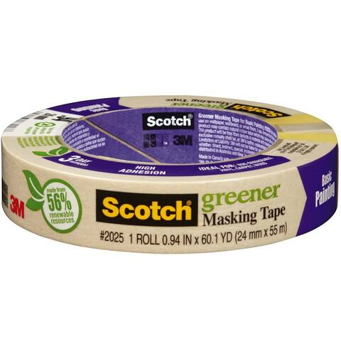 "Scotch 2025-24C Greener Masking Tape for Basic Painting, 0.94"" x 60.1 Yd"
