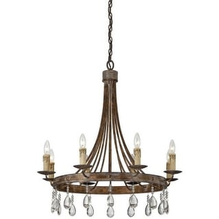 """Savoy House 1-201-8 Carlisle 8 Light 29.5"""" Wide 1 Tier Chandelier with Crystal A"""