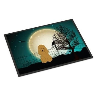Carolines Treasures BB2259JMAT Halloween Scary Poodle Tan Indoor or Outdoor Mat 24 x 0.25 x 36 in.