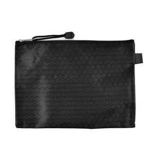 Office Stationery A5 Paper Document Rectangle Nylon Files Bags Organizer Black