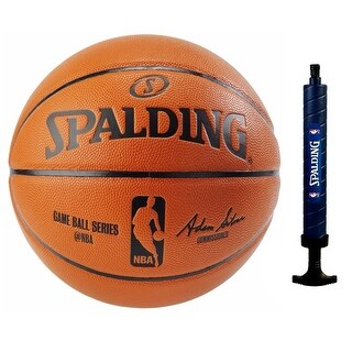 "Spalding NBA Official Size Replica Basketball (29.5) w/ 12"" Dual Action Pump"