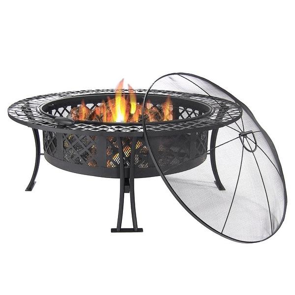 Sunnydaze Large Bowl Fire Pit, Options Available 40 Inch Diameter - Black