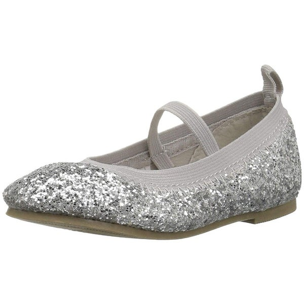 23734f4e6c Shop Carter's Kids Girl's Amity Silver Ballet Flat - 5 M US Toddler ...