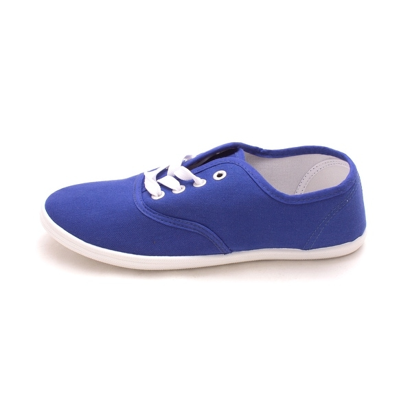 Easy USA Womens Colton Fabric Low Top Lace Up Fashion Sneakers - 7