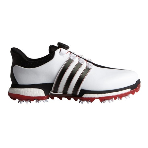 buy popular ad6cc 6df3a Shop Adidas Men s Tour 360 BOA Boost White Core Black Power Red Golf Shoes  F33449 - Free Shipping Today - Overstock - 18696316