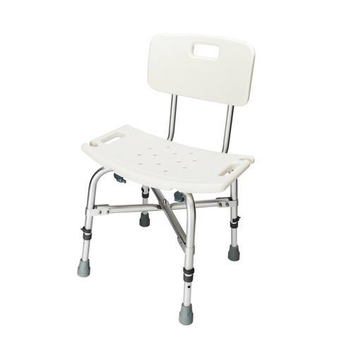 Heavy Duty Aluminium Alloy Bath Chair Bench with Back