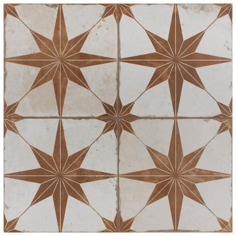SomerTile 17.625x17.625-inch Royals Estrella Oxide Ceramic Floor and Wall Tile (5 tiles/11.02 sqft.)