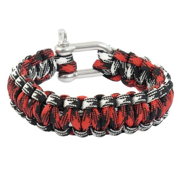 Unique Bargains Unique Bargains Daily Life Decor Practical Stainless Steel Shackle Survival Bracelet Multicolor