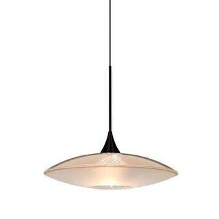 Besa Lighting 1XT-6294GD-LED Spazio Single Light LED Mini Pendant with Gold Handcrafted Glass Shade