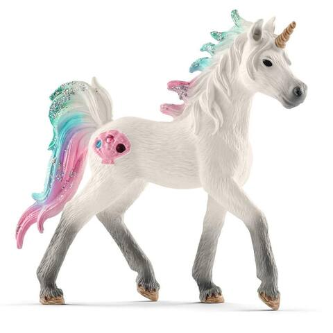 Schleich 70572 Bayala Collection Sea Unicorn Foal Toy Figurine, For Age 3+