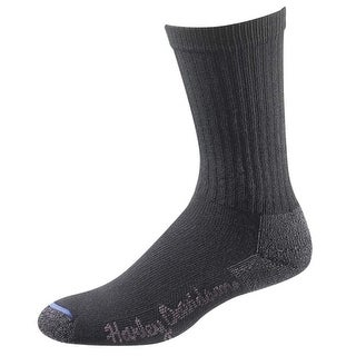 Harley-Davidson Wolverine Women's Comfort Riding Crew Socks Black D89982270-001