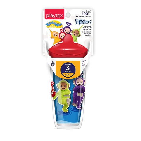 Playtex Teletubbies Sipsters, Stage 3, 12M+, Red, 9 Oz