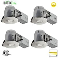 "Globe Electric 90735 LED Integrated 4"" Recessed Lighting Kit - Pack of 4"