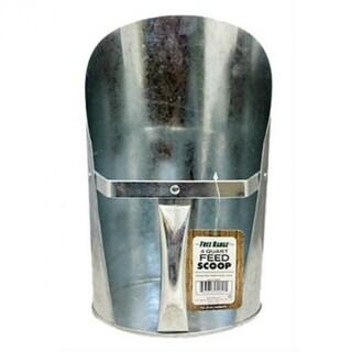 Free RangeA¢ 4251 Galvanized Feed Scoop with Easy-Grip Round Handle, 4-Qt