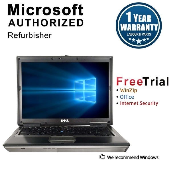 "Refurbished Dell Latitude D630 14.1"" Laptop Intel Core 2 Duo 1.8G 2G DDR2 80G DVD Win 7 Home Premium 32 1 Year Warranty - Silver"