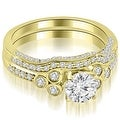 1.69 cttw. 14K Yellow Gold Round Cut Diamond Bridal Set - Thumbnail 0