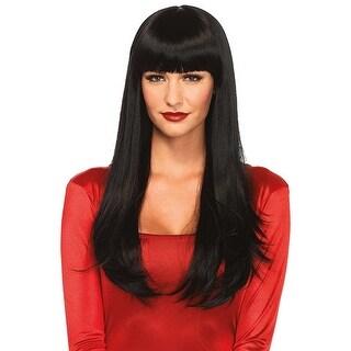 Women's Long Wig, Black - Multi