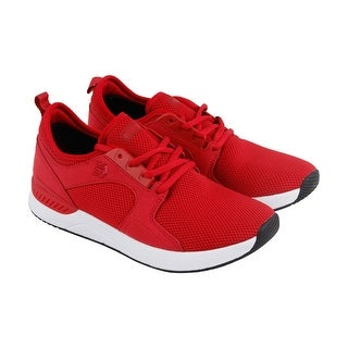 Etnies Cyprus Sc Mens Red Mesh Lace Up Sneakers Shoes